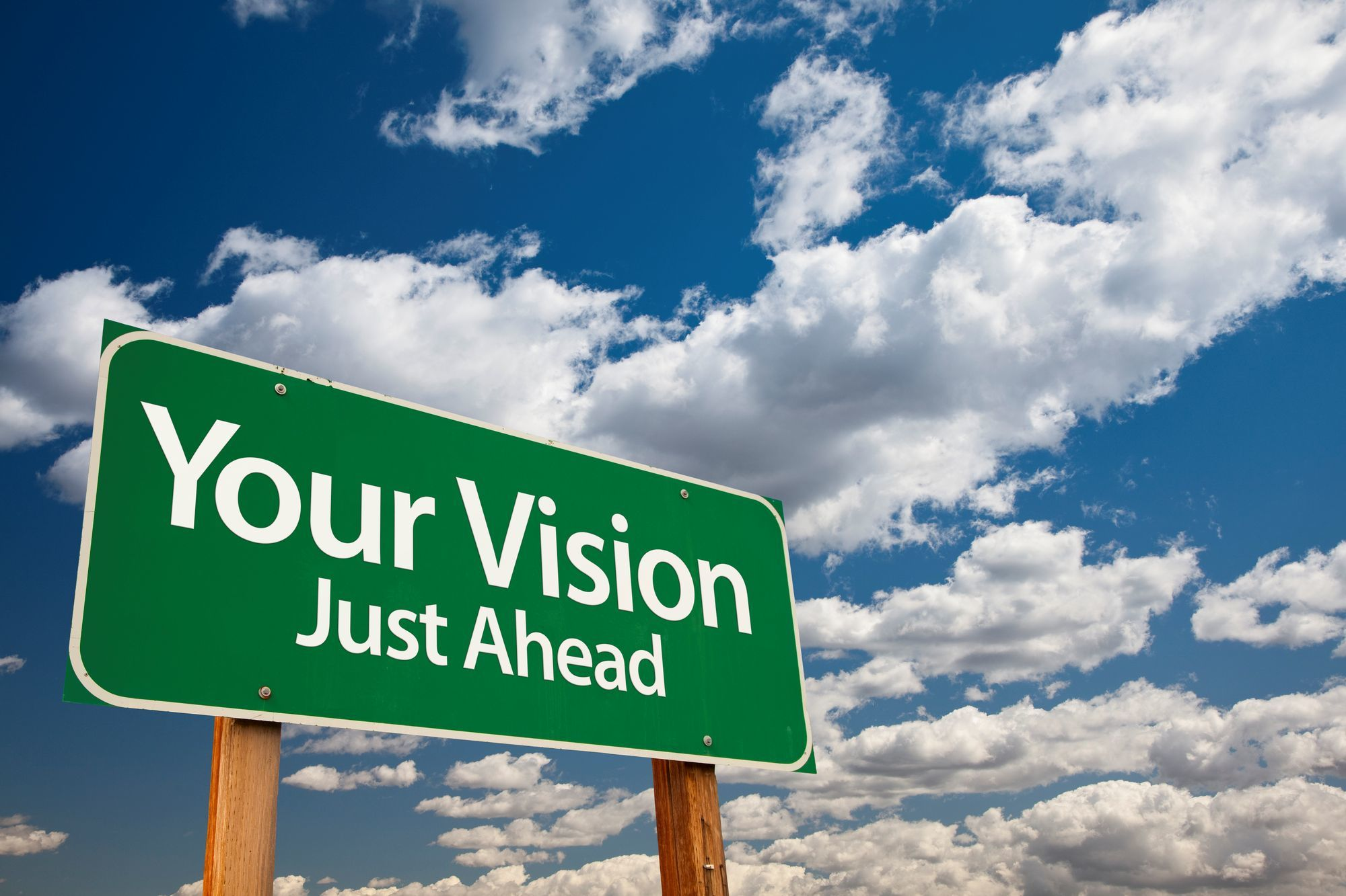 You Vision Just Ahead Sign